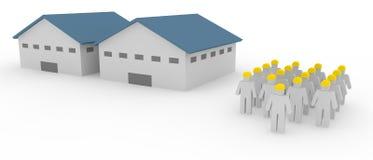 Υπάλληλοι αποθηκών εμπορευμάτων εργοστασίων διανυσματική απεικόνιση