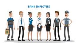 Υπάλληλοι τράπεζας καθορισμένοι ελεύθερη απεικόνιση δικαιώματος
