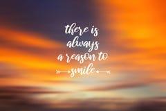 Υπάρχει πάντα ένας λόγος να χαμογελάσει στοκ εικόνα