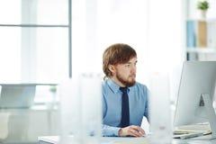 Υπάλληλος στην εργασία Στοκ εικόνες με δικαίωμα ελεύθερης χρήσης