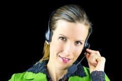 Υπάλληλος τηλεφωνικών κέντρων Στοκ φωτογραφία με δικαίωμα ελεύθερης χρήσης