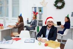 Υπάλληλος Χριστουγέννων στοκ εικόνα