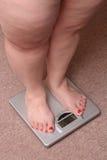 υπέρβαρες γυναίκες ποδ&i στοκ εικόνες