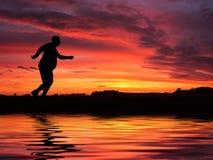 Υπέρβαρο τρέξιμο ατόμων Στοκ Εικόνα