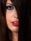 υπέροχα γυναίκα προσώπο&upsilo Στοκ εικόνα με δικαίωμα ελεύθερης χρήσης