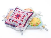 υπέροχα διακοσμημένα μαξιλάρια Στοκ Εικόνα
