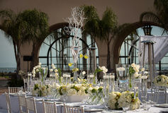 Υπέροχα διακοσμημένος γαμήλιος τόπος συναντήσεως Στοκ Φωτογραφία