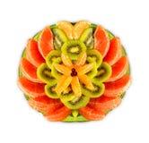 Υπέροχα τακτοποιημένο πιάτο φρούτων Στοκ φωτογραφία με δικαίωμα ελεύθερης χρήσης