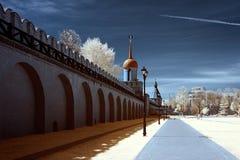 υπέρυθρες οδοί φωτογραφιών της Μόσχας πόλεων περιοχής Στοκ φωτογραφίες με δικαίωμα ελεύθερης χρήσης