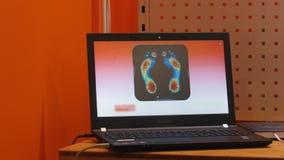 Υπέρυθρη θερμική απεικόνιση θερμότητας - φορητός προσωπικός υπολογιστής απόθεμα βίντεο