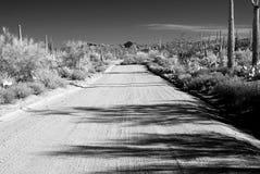 Υπέρυθρος βρώμικος δρόμος της Αριζόνα Στοκ εικόνα με δικαίωμα ελεύθερης χρήσης
