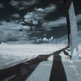 Υπέρυθρο τοπίο με τις σκιές Στοκ Εικόνες