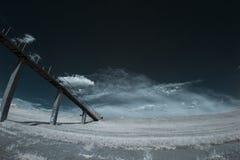 Υπέρυθρο τοπίο με τις σκιές Στοκ Εικόνα