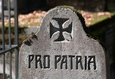 Υπέρ patria Στοκ εικόνα με δικαίωμα ελεύθερης χρήσης