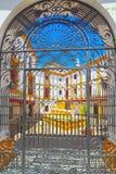 Υπαίθρια άποψη του χώρου επάνω του τετραγώνου των ταύρων βασιλικό Maestranza Στοκ Φωτογραφίες