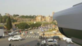 Υπαίθρια ασφάλεια καμερών CCTV απόθεμα βίντεο