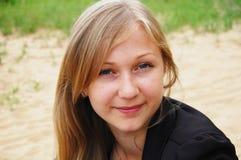 υπαίθρια γυναίκα προσώπο& Στοκ Φωτογραφίες