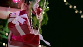 Υπαίθρια διακόσμηση Χριστουγέννων απόθεμα βίντεο