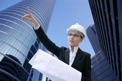 υπαίθρια εργασία γυναι&kappa Στοκ Εικόνα