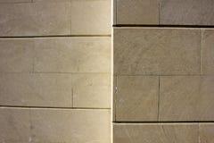 Υπαίθρια ελαφριά μεγάλα τούβλα τοίχων Στοκ εικόνες με δικαίωμα ελεύθερης χρήσης