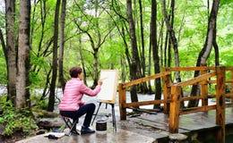 υπαίθρια ζωγραφική Στοκ Φωτογραφία