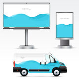Υπαίθρια διαφήμιση προτύπων ή εταιρική ταυτότητα στο αυτοκίνητο, πίνακας διαφημίσεων και citylight Στοκ Εικόνα
