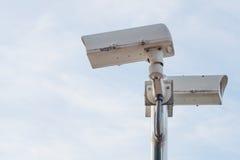 Υπαίθρια κάμερα CCTV ασφάλειας Στοκ Εικόνες