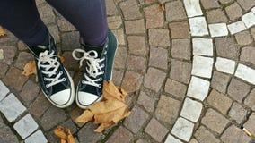 Υπαίθρια πάνινα παπούτσια Στοκ εικόνα με δικαίωμα ελεύθερης χρήσης