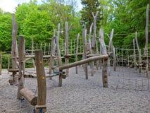 Υπαίθρια παιδική χαρά πάρκων αναρρίχησης Στοκ φωτογραφίες με δικαίωμα ελεύθερης χρήσης