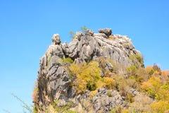 Υπαίθρια περιγραφή του κεφαλιού του βουνού Στοκ φωτογραφία με δικαίωμα ελεύθερης χρήσης