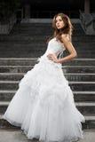 Όμορφη νέα γυναίκα στο γαμήλιο φόρεμα στοκ φωτογραφία με δικαίωμα ελεύθερης χρήσης