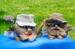 Υπαίθρια πόλη γεγονότος των κυρίων Δύο αστεία μικρότερα brownies Στοκ Εικόνες