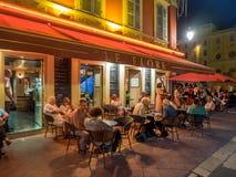 Υπαίθριοι εστιατόριο και φραγμός Στοκ Εικόνα