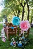 υπαίθριος γάμος σκηνής Στοκ εικόνα με δικαίωμα ελεύθερης χρήσης