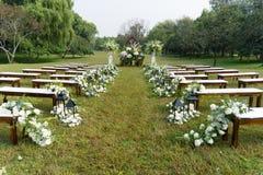 υπαίθριος γάμος σκηνής Στοκ φωτογραφίες με δικαίωμα ελεύθερης χρήσης