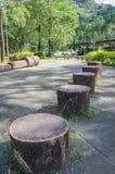 Υπαίθριος εξοπλισμός άσκησης στο πάρκο Στοκ Φωτογραφίες