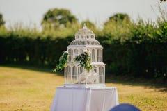 Υπαίθριος εσωτερικός γαμήλιων ντεκόρ Στοκ Φωτογραφίες