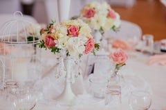 Υπαίθριος εσωτερικός γαμήλιων ντεκόρ Στοκ Φωτογραφία