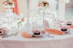 Υπαίθριος εσωτερικός γαμήλιων ντεκόρ Στοκ φωτογραφίες με δικαίωμα ελεύθερης χρήσης
