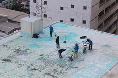 Υπαίθριος καθαρισμός πατωμάτων Στοκ εικόνες με δικαίωμα ελεύθερης χρήσης