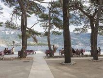 Υπαίθριος καφές, νησί του Άγιου Βασίλη Στοκ εικόνα με δικαίωμα ελεύθερης χρήσης