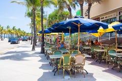 Υπαίθριος καφές στο Fort Lauderdale στη Φλώριδα στοκ εικόνα
