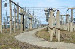 Υπαίθριος μηχανισμός διανομής για τους ηλεκτρικούς υποσταθμούς Στοκ Εικόνα