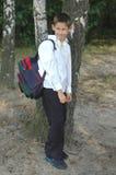 υπαίθριος σπουδαστής Στοκ Εικόνες