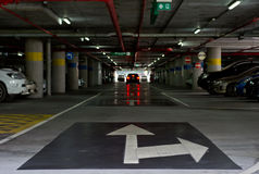 Υπαίθριος σταθμός αυτοκινήτων Στοκ Εικόνες