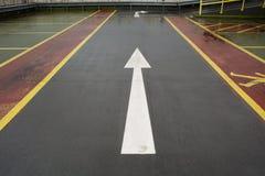 Υπαίθριος σταθμός αυτοκινήτων Στοκ Φωτογραφία