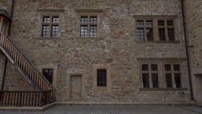 Υπαίθριος τοίχος του μνημειακού κάστρου σε Sanok Στοκ Εικόνα