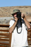 υπαίθριος φωτογράφος τύπ& στοκ φωτογραφίες με δικαίωμα ελεύθερης χρήσης