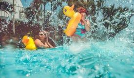 υπαίθριος pool spa χειμώνας ύδατος Στοκ Φωτογραφία