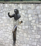 Υπαίθριο γλυπτό τοίχων βράχου, Montmartre, Παρίσι Στοκ Φωτογραφίες